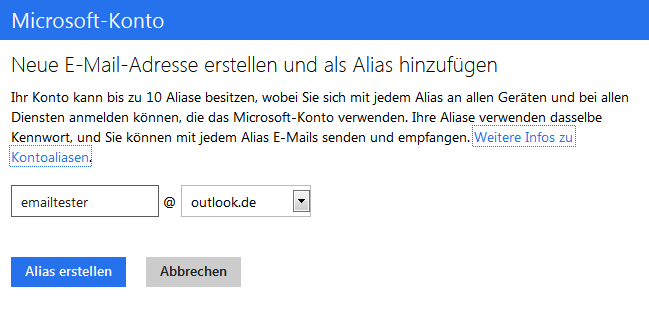 outlook email email alias