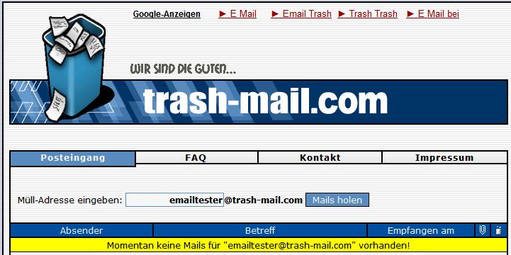 eingegangene e mails anzeigen