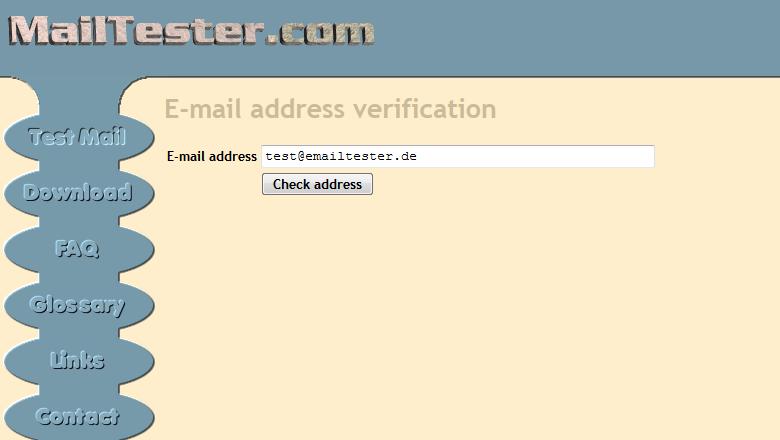 email adresse verifizieren